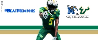 2015 USF Football #BeatMemphis Facebook Background Image No Truck 99% by Matthew Manuri (3568x1462)