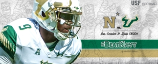 2015 USF Football Spooky Halloween #BeatNavy #AnnapolisAsphyxiation Facebook Cover Image II 100% by Matthew Manuri (3568x1462)