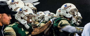 2015 USF Football Military Red White Blue Helmets Facebook Cover Photo by Matthew Manuri
