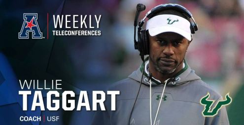 AAC Teleconference Week Six-USF Head Coach Willie Taggart (1277x659)