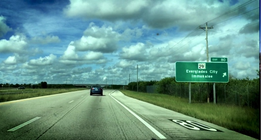 Immokalee Exit 80 Sign Florida State Road 29 HD ADJ 99% by Matthew Manuri | SoFloBulls.com