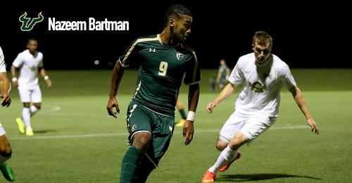 USF Men's Soccer Nazeem Bartman 2016 by Matthew Manuri   SoFloBulls.com (500x260)