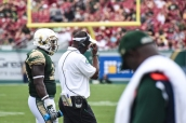 FSU vs USF 2016 101 - Willie Taggart with Cecil Cherry on the sideline by Dennis Akers (3779x2519)