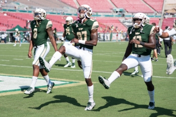 FSU vs USF 2016 27 - Tyre McCants, Rodney Adams and Darius Tice Pre-game by Dennis Akers (5507x3676)
