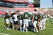 FSU vs USF 2016 35 - USF Team Ronnie Hoggins, Stanley Clerveaux and Spencer Adkinson Pre-game by Dennis Akers (5316x3549)