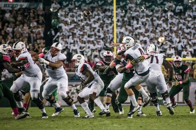 27 - UConn vs USF 2016 - UConn Bryant Shirreffs sacked by USF (4546x3035)