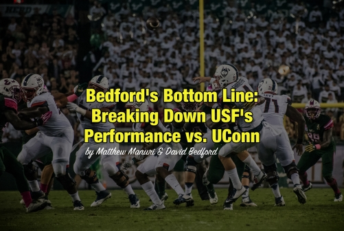 Bedford's Bottom Line-Breaking Down USF's Performance vs. UConn by Matthew Manuri [Photo by Dennis Akers] AI (4546x3035)