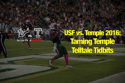 USF vs. Temple 2016-Taming Temple Telltale Tidbits by Matthew Manuri | SoFloBulls.com (6016x4016)