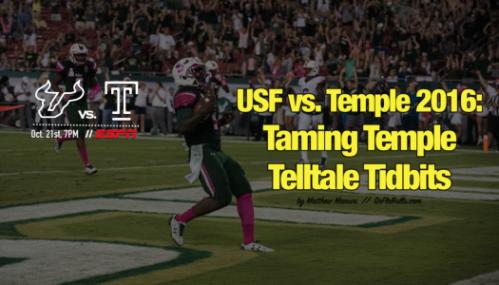 USF vs. Temple 2016-Taming Temple Telltale Tidbits by Matthew Manuri | SoFloBulls.com FI