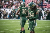 3 - USF vs. UCF 2016 - USF DB Johnny Ward Jalen Spencer by Dennis Akers | SoFloBulls.com (5033x3360)