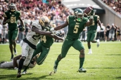 39 - USF vs. UCF 2016 - USF RB Marlon Mack stiff arms UCF DB D.J. Killings for TD by Dennis Akers | SoFloBulls.com (5165x3448)