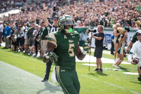 42 - USF vs. UCF 2016 - USF RB Marlon Mack TD with Raymond James Crowd #WarOnI4 by Dennis Akers | SoFloBulls.com (5343x3567)