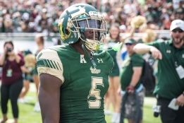 43 - USF vs. UCF 2016 - USF RB Marlon Mack TD with Raymond James Crowd #WarOnI4 by Dennis Akers | SoFloBulls.com (5355x3575)