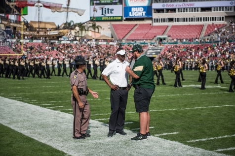 64 - USF vs. UCF 2016 - USF HC Willie Taggart interviewed by Thor Jozwiak by Dennis Akers | SoFloBulls.com (5936x3963)