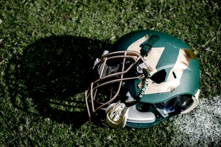 69 - USF vs. UCF 2016 - USF Green Football Helmet on Field #WarOnI4 by Dennis Akers | SoFloBulls.com (5712x3813)