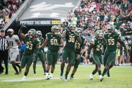 85 - USF vs. UCF 2016 - USF S Nate Godwin Interception Johnny Ward Bruce Hector Danny Thomas Josh Black #WarOnI4 by Dennis Akers | SoFloBulls.com (4626x3088)