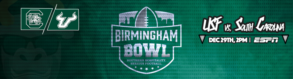#BeatSC South Carolina vs. USF Football Birmingham Bowl 2016 Header Image | SoFloBulls.com