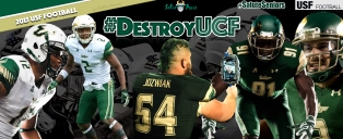 #DestroyUCF USF Football Thursday Night Thanksgiving ESPN Facebook Cover Photo by Matthew Manuri | South Florida Football 2015 (3568x1462)