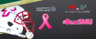 USF Bulls Football October Breast Cancer Awareness vs SMU 2015 Facebook Cover Image by Matthew Manuri (3568×1462)