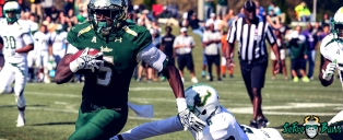USF RB Marlon Mack in the 2015 Spring Game Facebook Cover Image 99% by Matthew Manuri (3568x1462)