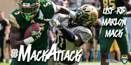#MackAttack South Florida RB Marlon Mack Highlights 2016 by Matthew Manuri | SoFloBulls.com (640x320)