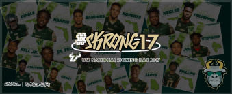 #Skrong17 USF Football NSD Class of 2017 Facebook Cover Background Image by Matthew Manuri | SoFloBulls.com (3568x1462)