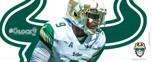 #Glock9 USF QB Quinton Flowers Highlights 2016 Facebook Cover Image II by Matthew Manuri | SoFloBulls.com (3568x1462)