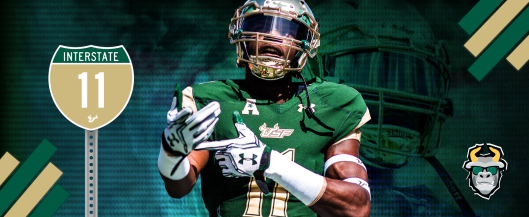 #Interstate11 South Florida WR Marquez Valdes-Scantling 2016 Highlights Facebook Cover Image II by Matthew Manuri | SoFloBulls.com (3568x1462)