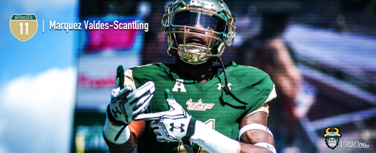 #Interstate11 USF WR Marquez Valdes-Scantling Highlights 2016 Facebook Cover Image III by Matthew Manuri | SoFloBulls.com (3568x1462)