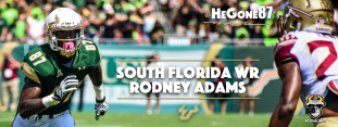 SoFloBulls.com 2016 USF Football Highlights Series - #HeGone87 WR Rodney Adams Facebook Cover Image NEW PX | SoFloBulls.com (2048x776)