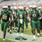 11 - Illinois vs. USF 2017 - USF QB Quinton Flowers Kevin Kegler Christion Gainer by Dennis Akers | SoFloBulls.com (4016x6016)