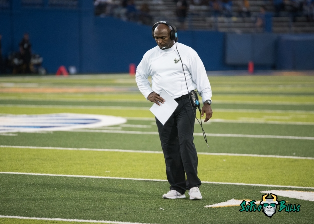 129 - USF vs. San Jose State 2017 - USF HC Charlie Strong by Dennis Akers | SoFloBulls.com (4544x3246)