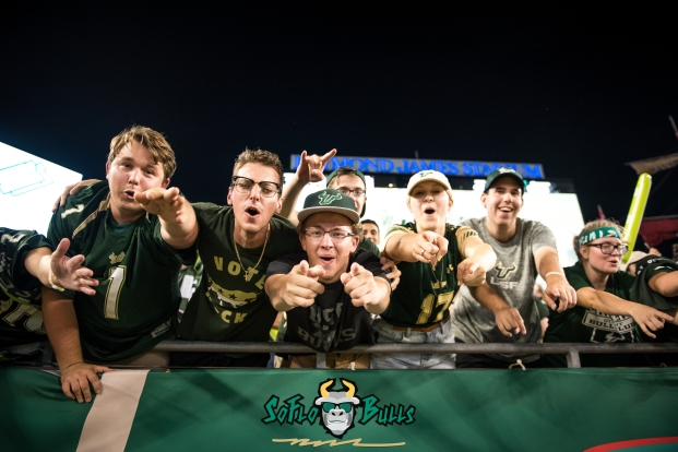 157 - Temple vs. USF 2017 - USF Fans in Crowd Close Up by Dennis Akers | SoFloBulls.com (6016x4016)