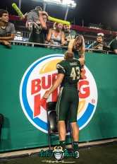 179 - Temple vs. USF 2017 - USF LB Auggie Sanchez with son and Family by Dennis Akers | SoFloBulls.com (3491x4887)