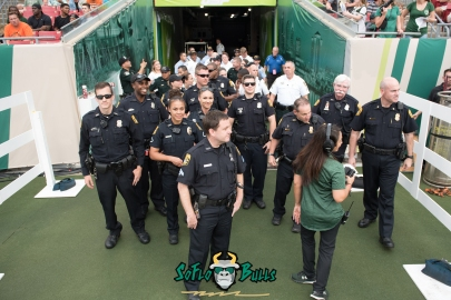 20 - Illinois vs. USF 2017 - Police Officers In Tunnel by Dennis Akers | SoFloBulls.com (5454x3641)