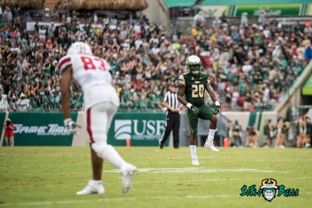31 - Stony Brook vs. USF 2017 - USF S Devin Abraham by Dennis Akers | SoFloBulls.com (4940x3298)