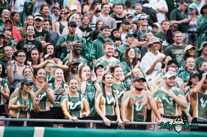 38 - Stony Brook vs. USF 2017 - USF Beefstuds in Stands by Dennis Akers | SoFloBulls.com (5009x3344)