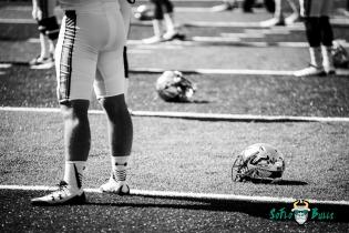 5 - USF vs. San Jose State 2017 - USF Helmets on Field B&W by Dennis Akers | SoFloBulls.com (5157x3443)