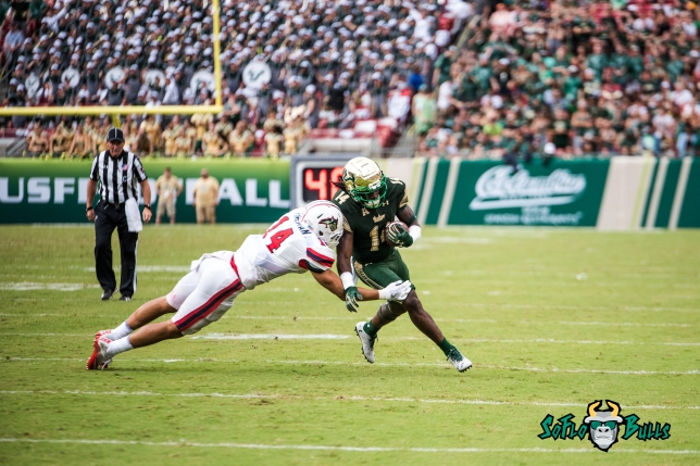 58 - Stony Brook vs. USF 2017 - USF WR Deangelo Antoine by Dennis Akers | SoFloBulls.com (5006x3342)