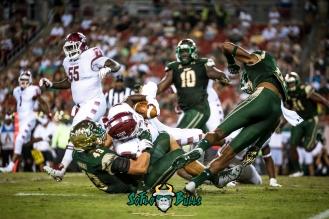 64 - Temple vs. USF 2017 - USF LB Auggie Sanchez by Dennis Akers | SoFloBulls.com (5497x3670)