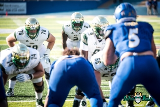 79 - USF vs. San Jose State 2017 - USF RB D'Ernest Johnson Quinton Flowers Billy Atterbury by Dennis Akers | SoFloBulls.com (4687x3129)