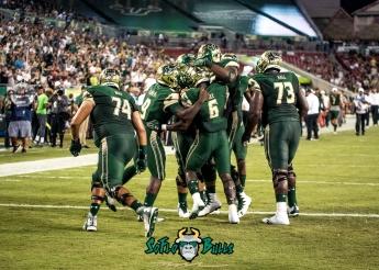 80 - Temple vs. USF 2017 - USF RB Darius Tice Quinton Flowers Cameron Ruff Jeremi Hall by Dennis Akers | SoFloBulls.com (4033x2881)