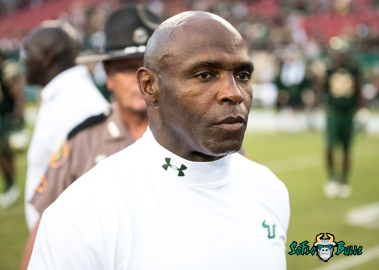 98 - Stony Brook vs. USF 2017 - USF HC Charlie Strong by Dennis Akers | SoFloBulls.com (4324x3089)