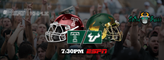 #BeatTemple Temple vs. South Florida 2017 Gameday Facebook Cover Image by Matthew Manuri II | SoFloBulls.com (3404x1260)