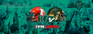 Illinois vs. South Florida 2017 #BeatIllinois Gameday Facebook Cover Image by Matthew Manuri | SoFloBulls.com (3404x1260)
