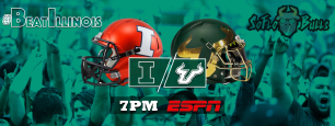 #BeatIllinois Illinois vs. South Florida 2017 Gameday Twitter Cover Image by Matthew Manuri | SoFloBulls.com (2048x776)