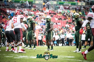 32 - USF vs. Houston 2017 - USF DL Deadrin Senat Mike Love Kevin Bronson by Dennis Akers | SoFloBulls.com (6016x4016)