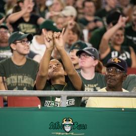 90 - Cincinnati vs. USF 2017 - USF Fan in Crowd by Dennis Akers | SoFloBulls.com (4012x4012)
