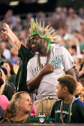 94 - Cincinnati vs. USF 2017 - USF Fan with Wig in Crowd by Dennis Akers | SoFloBulls.com (3629x5436)