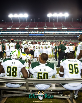 136 - Tulsa vs. USF 2017 - USF DT Bruce Hector Mike Love Kelvin Pinkney by Dennis Akers | SoFloBulls.com (3839x4799)
